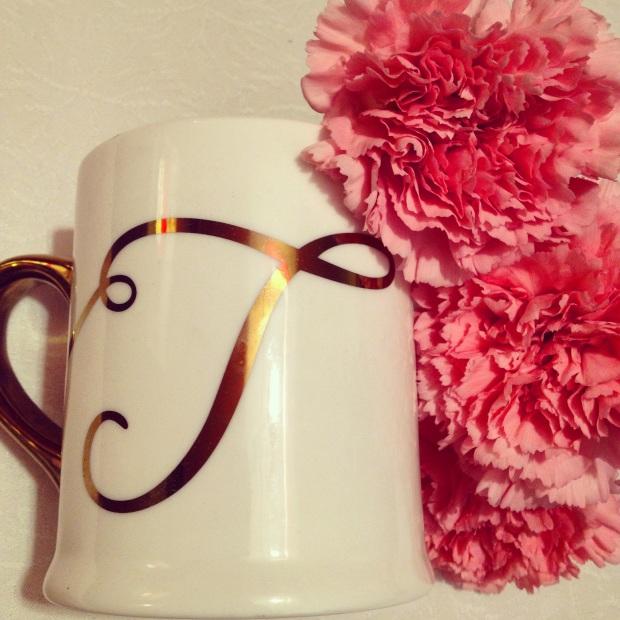 Gold Monogram Mug